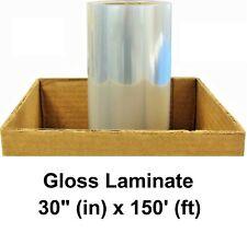 Gloss Clear Self Adhesive Pvc Protective Laminate 3yr Vinyl Roll 30 X 150