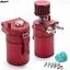 Universal-Aluminum-Baffled-Oil-Catch-Can-Reservoir-Tank-200ml-Breather-Filter thumbnail 2
