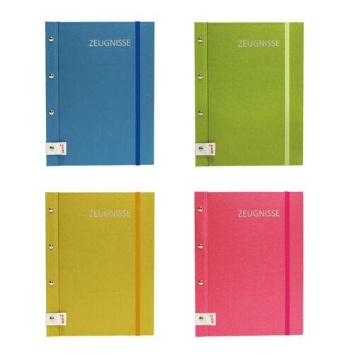 ROTH Zeugnismappe Metallium mit Buchschrauben erweiterbar blau grün pink gold