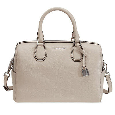 Michael Kors Mercer Pebbled Leather Duffle Bag - Cement