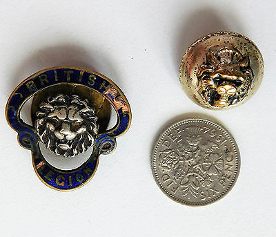 British Legion button and numbered buttonhole badge J R Gaunt vintage 1920s