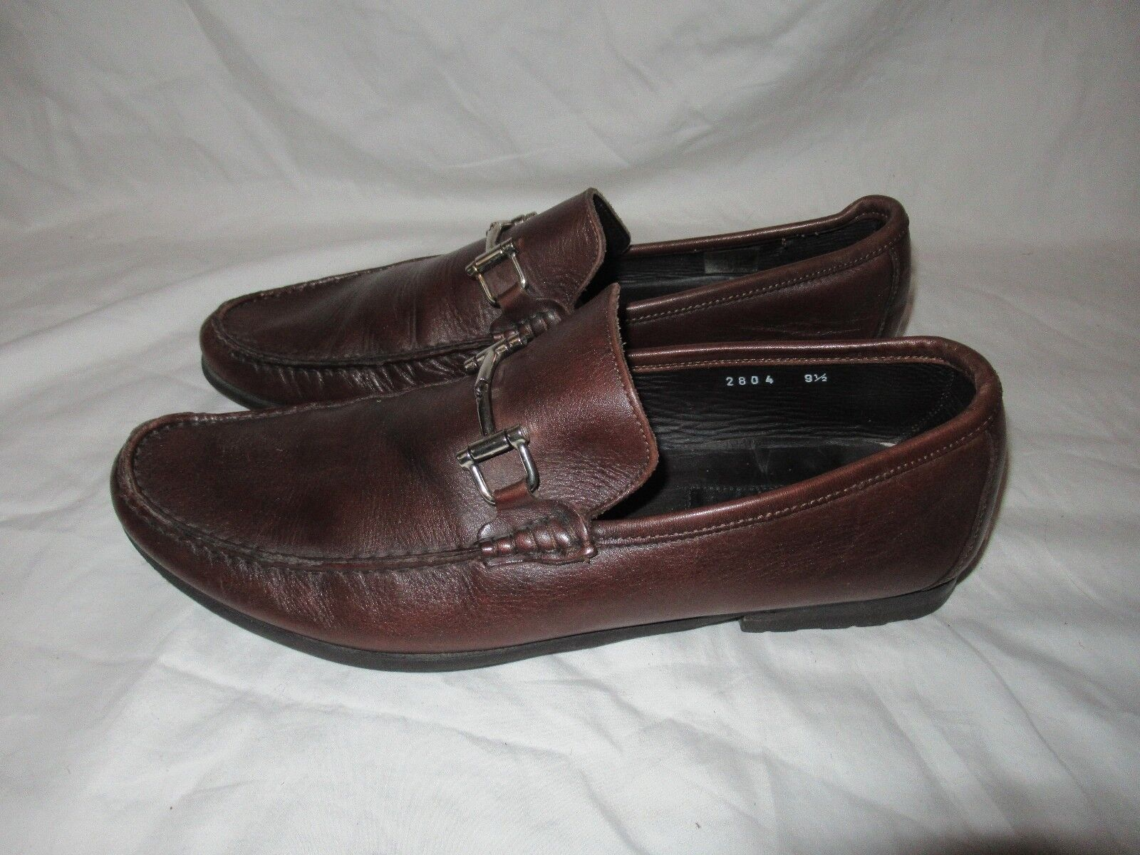 merce di alta qualità e servizio conveniente e onesto To avvio New York Adam Derrick Marrone Marrone Marrone Leather Loafer scarpe Uomo 9.5 Made in   ti renderà soddisfatto