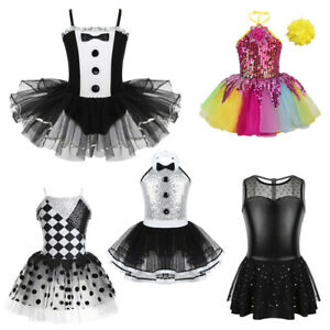 NEW Jazz Tap Dance Black Flutter Skirt Ladies and Girls Sizes