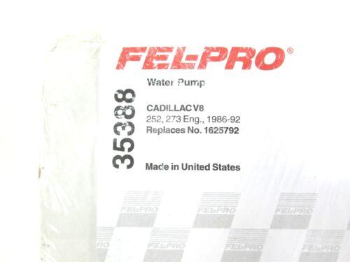 NEW Fel-Pro Water Pump Gasket 35388 Cadillac Deville Seville Allante V8 1986-95