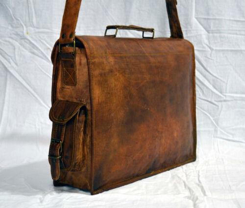 Mens Vintage Leather Satchel Messenger Man HandBag Business Laptop Briefcase Bag