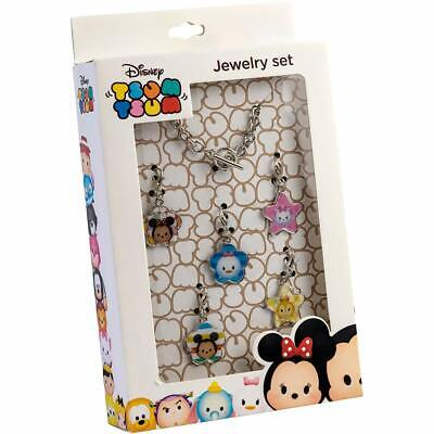 Disney Tsum Tsum In Metallo Gioielli Set Bracciale Con Charm Ciondoli Regalo Stocking Filler- Lustro Incantevole
