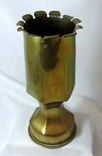 Trench Art Shell Case Vase 1908 G Wilksins RE 21cm tall and 739g