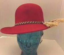 169eae2e2a882 item 2 New Brixton Women Red 100% Wool Stills Hat Braided Fiber Tassel  Accent XS 6 3 4 -New Brixton Women Red 100% Wool Stills Hat Braided Fiber  Tassel ...