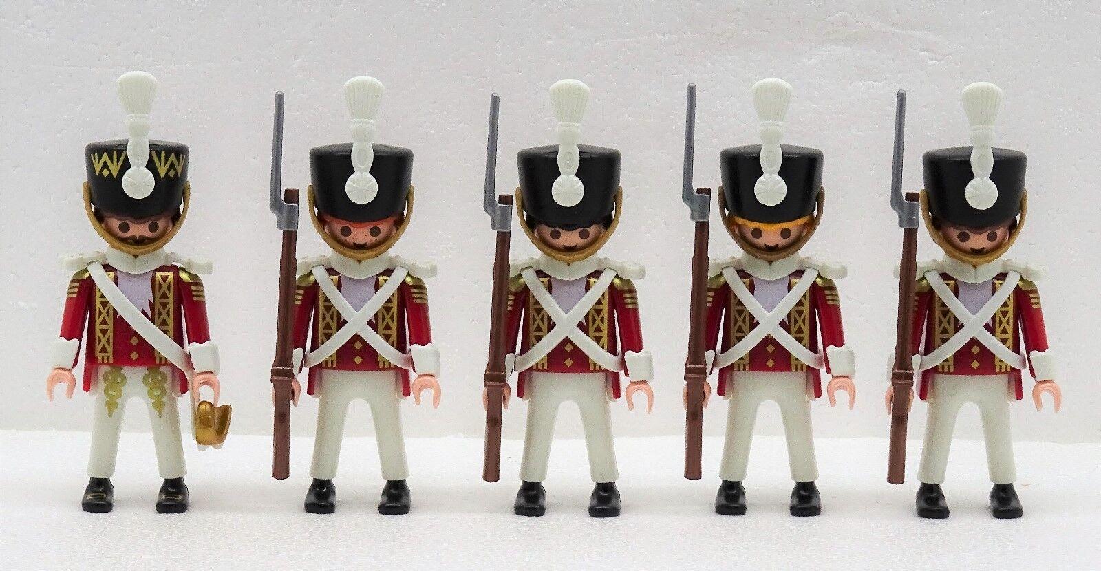 4 X SOLDATO + + + Ufficiale PLAYMOBIL a GIUBBE ROSSE oro guardia Ussaro 9443 Napoleone RAR 0e8af1