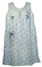 Floral cotton sleeveless womens duster nightgown sleepwear #707 - M L XL 2X