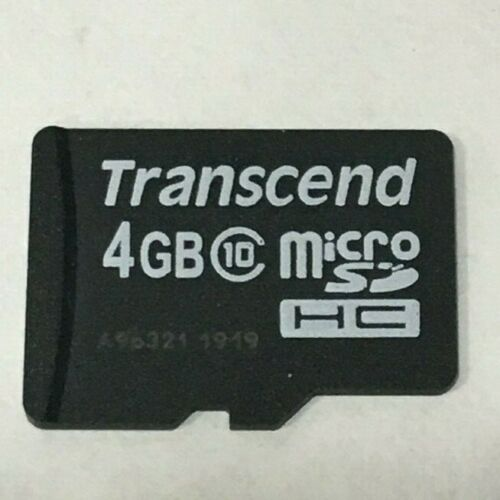 Lot of 10x Transcend 4GB Class 10 Micro SD Memory Card