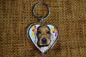Cocker-Spaniel-Fawn-Dog-Keyring-Dog-Key-Ring-Birthday-Xmas-Gift-Mothers-Day-Gift