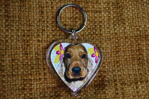 Cocker Spaniel Fawn Dog Keyring Dog Key Ring Birthday Xmas Gift Stocking Filler