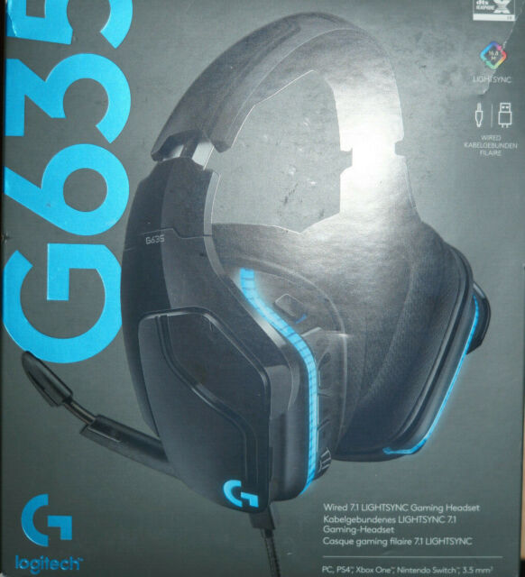Logitech Gaming G635 Gaming Headset - Schwarz (981-000750)