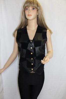 80er 80s Vintage Leder Weste Lederweste Echtleder True Vtg Leather Vest S Gilet Dauerhaft Im Einsatz