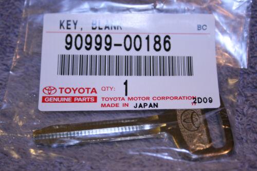 Brand New Uncut Master Key 90999-00186 Genuine Toyota OEM Steel Key Blank