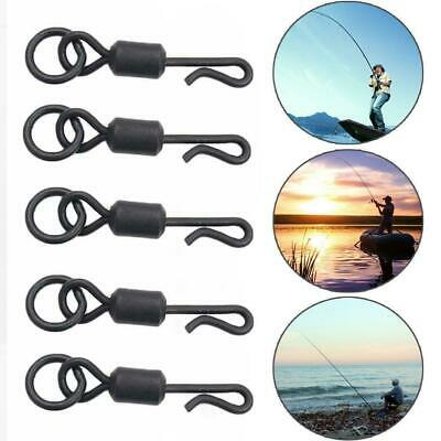 50Stk //pack Fishing Solid Stainless Steel Snap Split Ring-Tackle-Connector