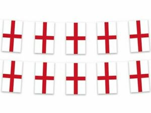 Euro Football Angleterre Bunting 7 mètres 20 DRAPEAUX Croix De St George's Day Party