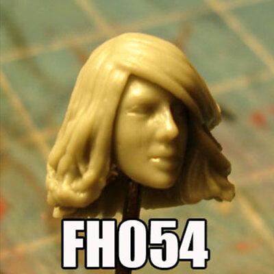 "FH054 Custom Cast Sculpt part Female head cast for use with 3.75/"" action figures"