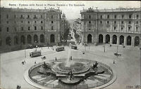 Roma Rom alte AK Italien~1910 Fontana delle Naiadi in Piazza Termini Straßenbahn