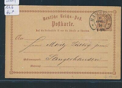 30624 Hufeisenstempel Hamburg Ga 1874