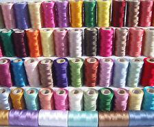 40 rocchetti matassine per macchina da cucire seta arte ricamo filo 40 colori
