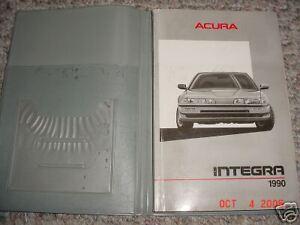 1990 acura integra 4 door owners manual 90 ebay rh ebay com 1994 acura integra repair manual free 1994 acura integra service manual pdf