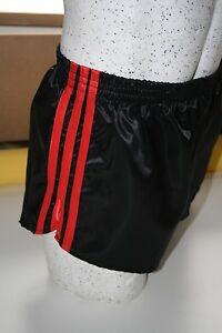 Retro Nylon Satin Football Shorts S to 4XL Plain Red