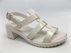 86818beeb6 Mini Melissa Kids' Mel Flox High Heeled Sandal GIRL'S SZ 3.0 M WHITE ...
