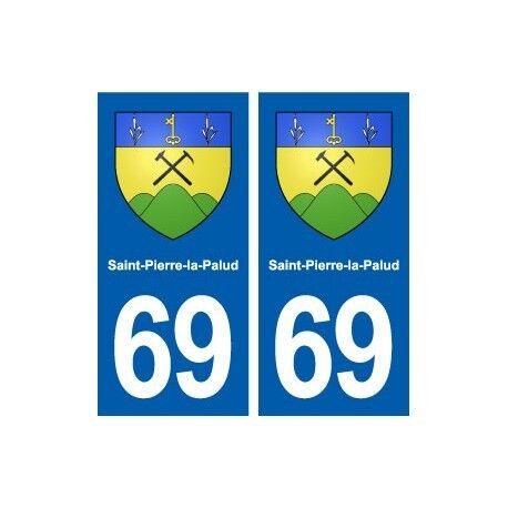 69 Saint-Pierre-la-Palud blason autocollant plaque stickers ville droits