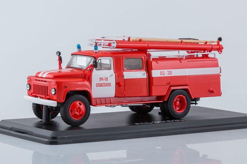 GAZ 53A 106A URSS AC30 CAMION DEI POMPIERI spasskoe Fire Dept 1 43 inizio Scale modellos