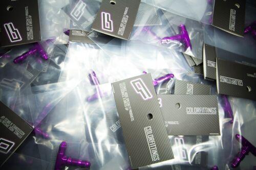 """matches tial purple PURPLE 3AN 3AN /""""Dash Three/"""" bulkhead brake tee fitting"""