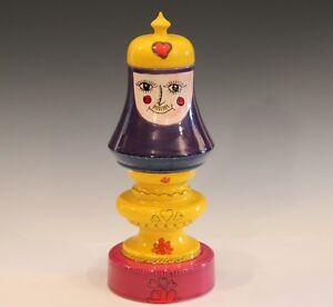 Figure Raymor Bagni Vintage Italian Pottery Label Queen Jar MCM ...
