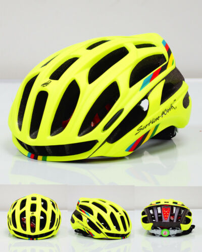 Adult Safety Helmet Road Protector Bicycle Riding Helmet Cap Led Tail Lights