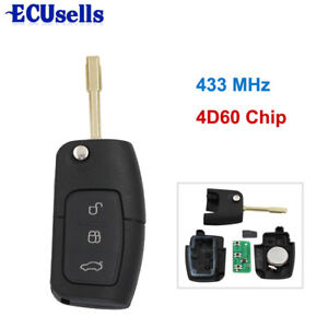 3 Button Keyless Entry Remote Key Fob For Ford Mondeo With Chip 4D60 433MHz FO21