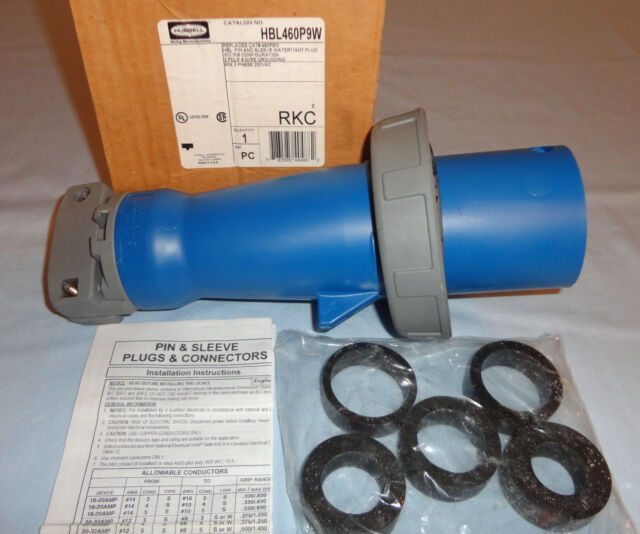Hubbell Pin and Sleeve Plug 460p9w 60 Amp 3 Phase 250 VAC | eBay