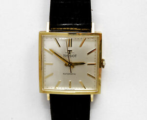 Tissot-vintage-1960-squared-18k-solid-gold-automatic-new-old-stock-pristine