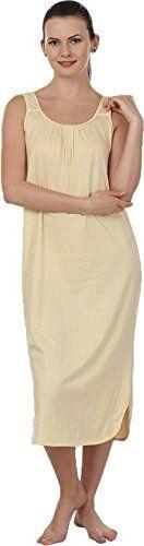 Skin Color Womens Nighty Slip Solid Bodycon Babydoll Nightie Sleepware Pack of 2