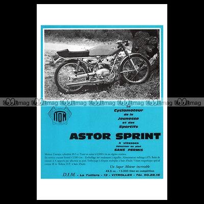 #phpb.001295 Photo Itom 50 Astor Sprint 1969 Cyclo Sport A4 Advert Reprint Verfrissend En Weldadig Voor De Ogen