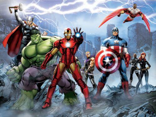 Marvel Wandbild Tapete Kinderzimmer Avengers Premium Foto Wandaufkleber