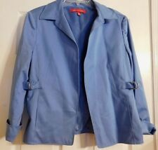 Women's Blue Anne Klein Jacket To Wear With Skirt Or Pants Size 12 P Petite