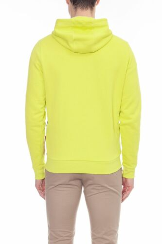 Men/'s lime yellow signature diagonal stripe hoody TOMMY HILFIGER