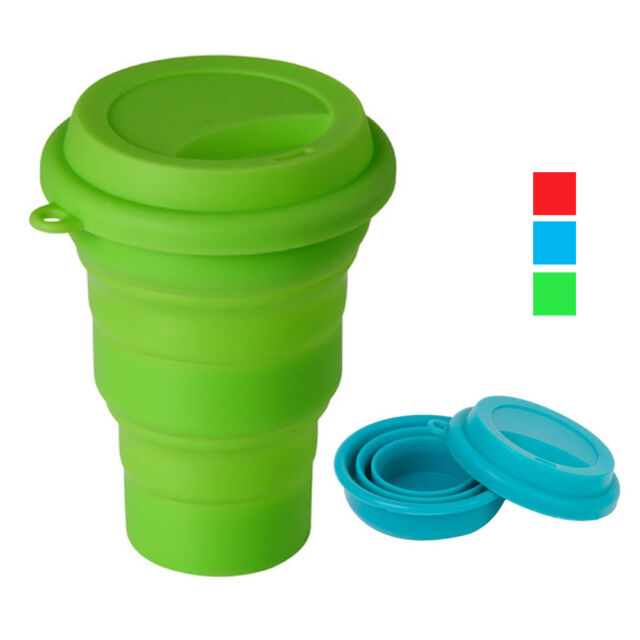 Collapsible Silicone Travel Coffee Tea Mug 16 Oz Camping Travel Cup BPA Free !