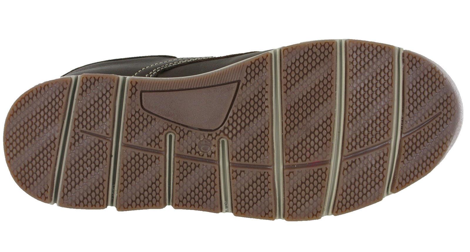 Roamers piel MOCASIN Zapatos Náuticos CIERRE ADHESIVO forro de piel Roamers Ligero HOMBRE b64131