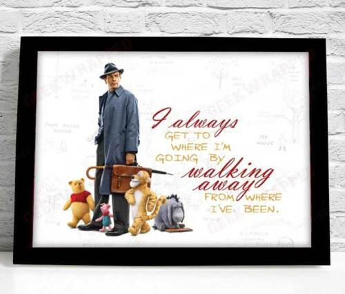 Christopher Robin 2018 Winnie The Pooh Poster A4 Print Quote Motivational Art