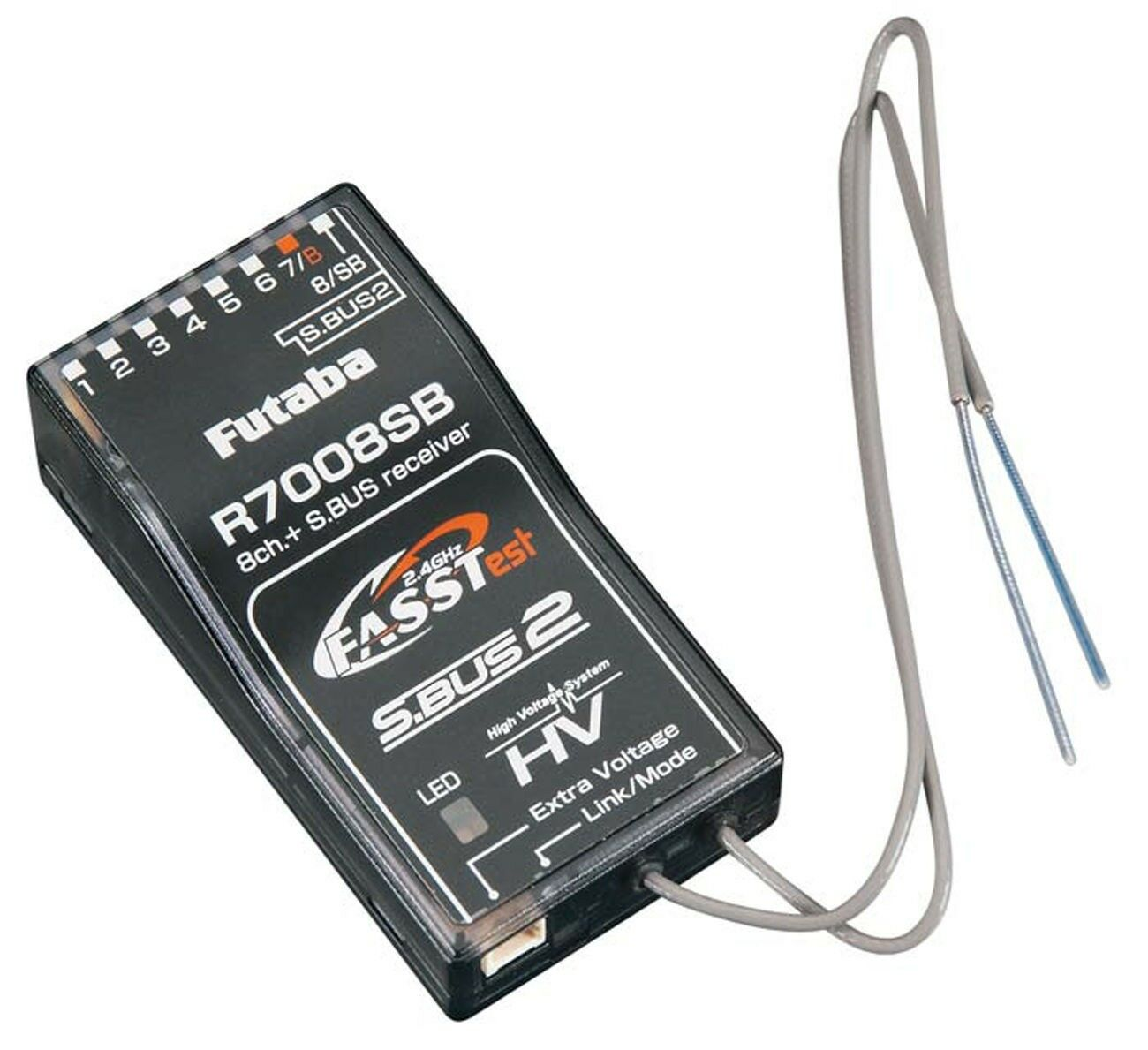 Futaba 8 Canales S. BUS 2 fasstest 2.4GHz receptor para 18MZ 14SG R7008SB