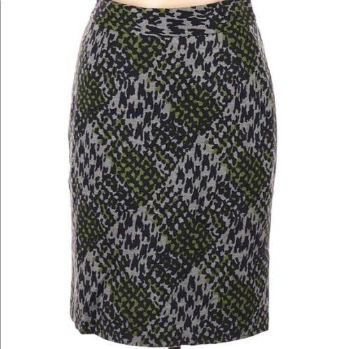 TRINA TURK Leopard Print Plaid Pencil Skirt Gray G