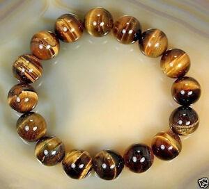 Natural-10mm-African-Tiger-039-s-Eye-Gem-Beads-Bracelet