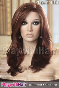 Sweeping Flowing Long Lace Front Mono Top Wig Multitoned Red Jon