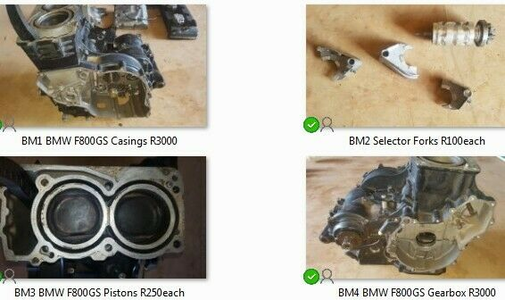BMW F800GS Chassis, panels engine parts for sale